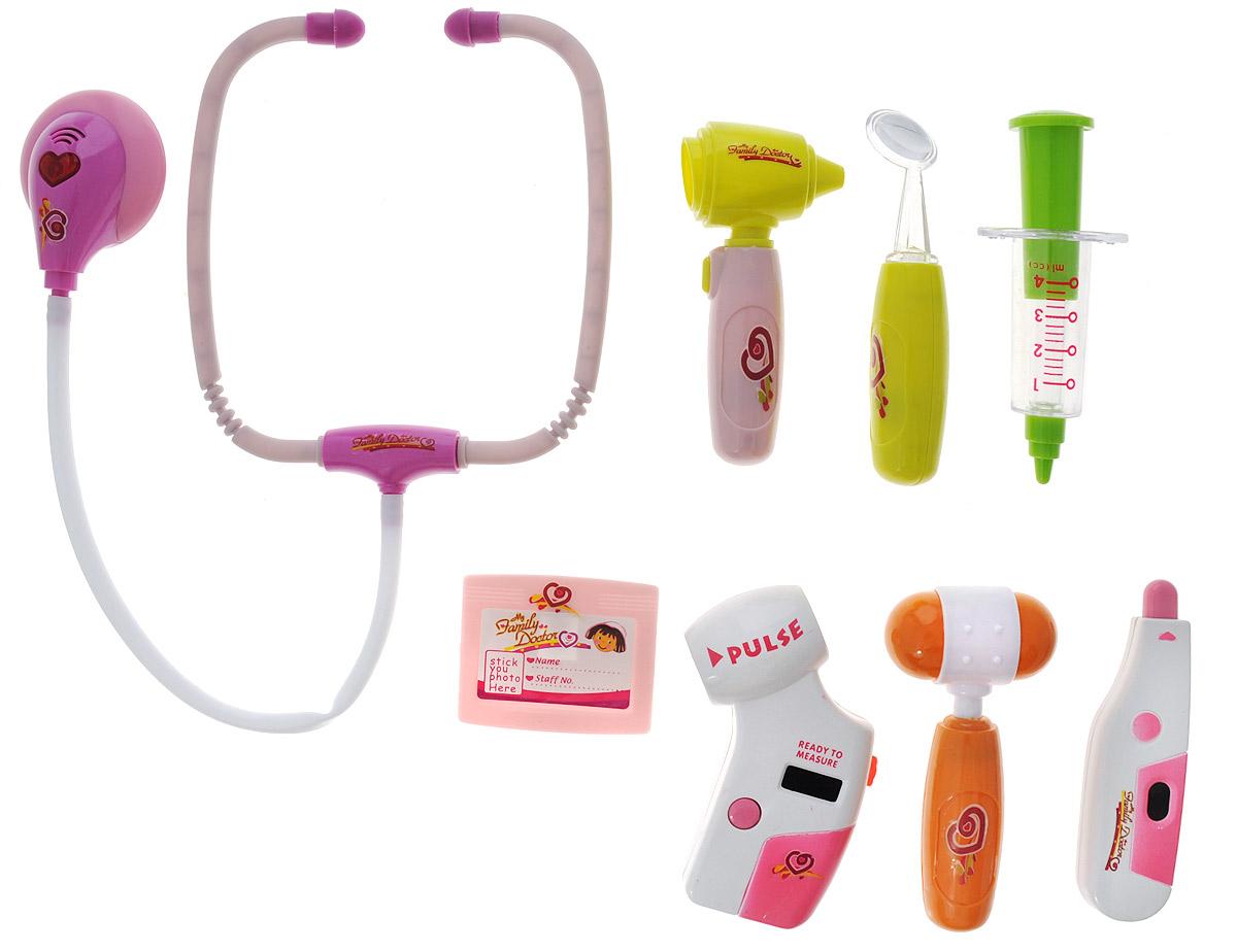 Junfa Toys Игровой набор Доктор цвет розовый junfa toys игровой набор автовоз и 5 машинок трансформеров цвет автовоза красный