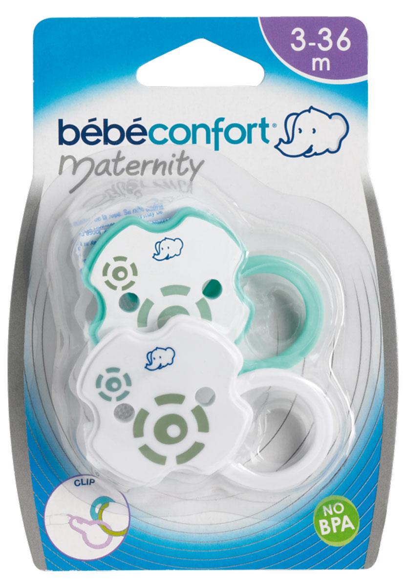 Bebe Confort Клипса для пустышки 2 шт пустышки bebe confort ортодонтическая силиконовая ночная 6 36 мес