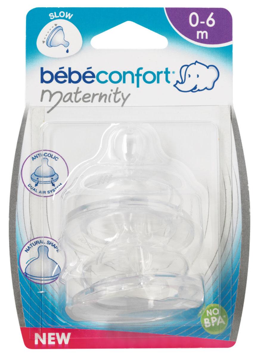 Bebe Confort Соска Maternity S2 силикон 6-24мес. 2 шт. bebe confort комплект из 2 х сосок из силикона для бутылочек с широким горлышком сильный поток