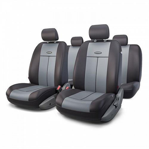Авточехлы Autoprofi TT, цвет: черный, серый, 9 предметов. TT-902P BK/D.GYTT-902P BK/D.GYАвтомобильные чехлы Autoprofi TT изготавливаются из высококачественного полиэстера со вставками из поролона, обеспечивающего сцепление с сиденьем. Мягкие чехлы являются отличным дополнением салона любого автомобиля. Изделия придают автомобильному интерьеру современные и солидные черты.Универсальная конструкция подходит для большинства автомобильных сидений. Подходят для автомобилей с боковыми подушками безопасности (распускаемый шов).Специальные молнии, расположенные в чехлах спинки заднего ряда, позволяют использовать чехлы на автомобилях с различными пропорциями складывания заднего ряда.Комплектация: 5 подголовников, 2 чехла сидений переднего ряда, 1 спинка заднего ряда, 1 сиденье заднего ряда.