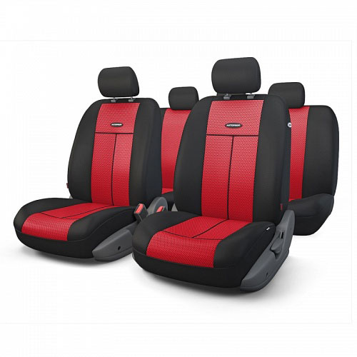 Авточехлы Autoprofi TT, цвет: черный, красный, 9 предметов. TT-902M BK/RDTT-902M BK/RDАвтомобильные чехлы Autoprofi TT изготавливаются из высококачественного полиэстера со вставками из поролона, обеспечивающего сцепление с сиденьем. Мягкие чехлы являются отличным дополнением салона любого автомобиля. Изделия придают автомобильному интерьеру современные и солидные черты.Универсальная конструкция подходит для большинства автомобильных сидений. Подходят для автомобилей с боковыми подушками безопасности (распускаемый шов).Специальные молнии, расположенные в чехлах спинки заднего ряда, позволяют использовать чехлы на автомобилях с различными пропорциями складывания заднего ряда.Комплектация: 5 подголовников, 2 чехла сидений переднего ряда, 1 спинка заднего ряда, 1 сиденье заднего ряда.