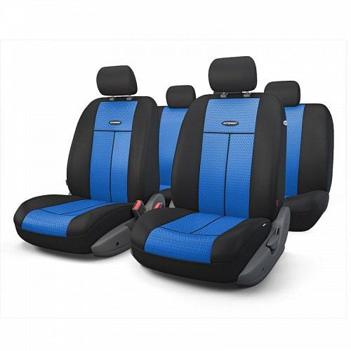 Авточехлы Autoprofi TT, цвет: черный, синий, 9 предметов. TT-902M BK/BLTT-902M BK/BLАвтомобильные чехлы Autoprofi TT изготавливаются из высококачественного полиэстера со вставками из поролона, обеспечивающего сцепление с сиденьем. Мягкие чехлы являются отличным дополнением салона любого автомобиля. Изделия придают автомобильному интерьеру современные и солидные черты.Универсальная конструкция подходит для большинства автомобильных сидений. Подходят для автомобилей с боковыми подушками безопасности (распускаемый шов).Специальные молнии, расположенные в чехлах спинки заднего ряда, позволяют использовать чехлы на автомобилях с различными пропорциями складывания заднего ряда.Комплектация: 5 подголовников, 2 чехла сидений переднего ряда, 1 спинка заднего ряда, 1 сиденье заднего ряда.