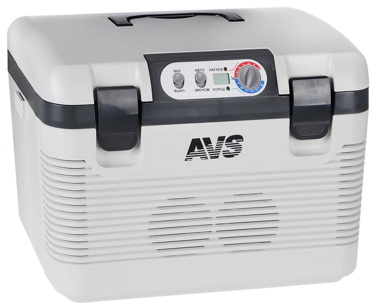 Холодильник автомобильный AVS CC-19WBC, 19 л, мин.температура -2°A80971SАвтомобильный термоконтейнерAVS CC-19WBC - это незаменимое устройство для большинства активных людей, которые значительную часть своего времени проводят в дороге, путешествуя по просторам нашей необъятной Родины или за рубежом. Несмотря на свое название - Автомобильный термоконтейнер, его можно использовать не только непосредственно в автомобиле, а также на даче, на природе или в других средствах транспорта (катера, туристические автобусы, грузовой транспорт), так как помимо подключения 12V, изделие также имеет разъем для подключения провода 220V (бытовая сеть), предусмотрено питание от сети грузового автомобиля (24V).Термоконтейнер способен удовлетворить практически любого покупателя, независимо от того, где он его будет использовать. Изделие выполнено из безопасного и высокопрочного полимера. Вся термическая изоляция изготовлена из экологически чистых материалов.Помимо неотъемлемой функции охлаждения, устройство способно переключаться в режим нагрева, при этом температура внутри рабочей камеры может увеличиваться до +65°С. Автомобильный термоконтейнер работает по принципу Эффекта Пельтье: охлаждение и нагрев происходит при прохождении постоянного электрического тока через термоэлектрические полупроводниковые пластины. Одна часть пластин находится внутри камеры холодильника, а другая снаружи. В режиме охлаждения внутренние части пластин охлаждаются, а наружные нагреваются. При изменении направления тока внутренние части пластин нагреваются, а наружные охлаждаются. Устройство полностью безопасно для бортовой электросети автомобиля, так как работает без компрессора — это не перегружает бортовую сеть автомобиля. Крышка плотно прилегает и четко фиксируется на корпусе, что гарантирует герметичность холодильной камеры, а, следовательно, и сохранность продуктов.Особенности холодильника:Максимальное охлаждение: 22-25°С от температуры окружающей среды.Максимальный нагрев: +65°С.LED дисплей.Регулируемый 