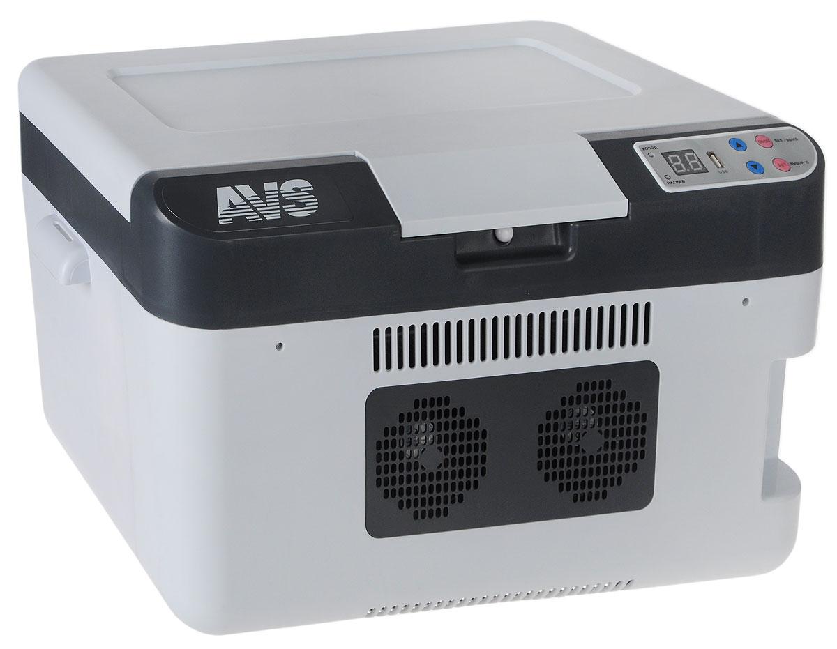 """Автомобильный термоконтейнер AVS """"CC-24WBC"""" - это незаменимый аксессуар для всех автомобилистов, которые долгое время проводят в дороге. Позволяет сохранить продукты и напитки, которые вы собираетесь взять в дальнюю поездку. Автомобильный холодильник изготовлен из высокопрочной пластмассы. Вся изоляция выполнена из экологически чистых материалов.  Устройство холодильника позволяет переключаться в режим нагрева с увеличением температуры внутри камеры до +65°С. Работает без компрессора и имеет встроенный контроль за состоянием аккумулятора автомобиля. Плотно прилегающая и фиксируемая крышка позволяет использовать холодильник с наибольшим КПД. Мощность в режиме охлаждения: 66 Вт. Мощность в режиме нагрева: 54 Вт. Максимальное охлаждение: 22-25°С от температуры окружающей среды. Максимальный нагрев: до +65°С. USB порт: 1 А."""