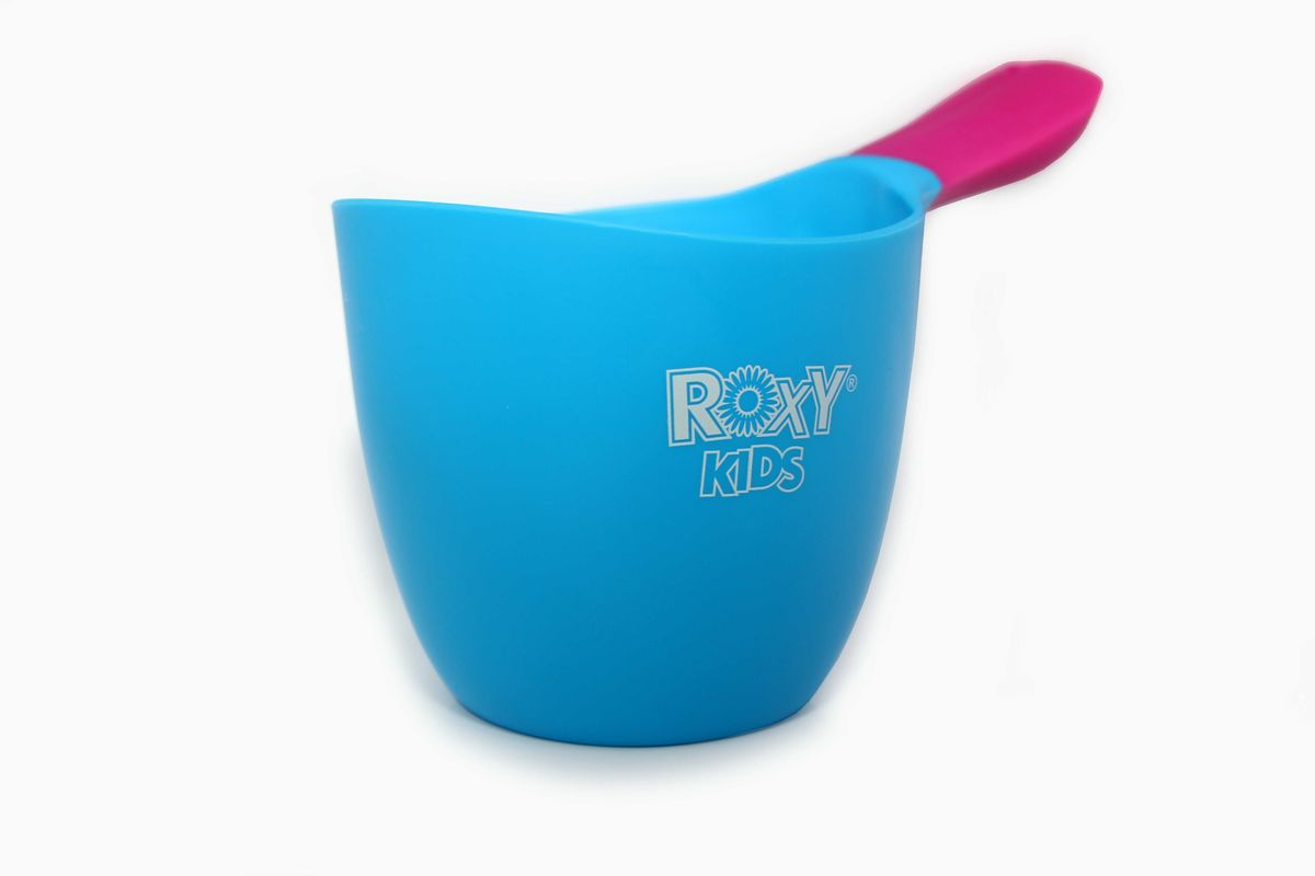Roxy-kids Ковш детский для мытья головы цвет голубой детский ковшик roxy kids с силиконовой ручкой 0 7л голубой