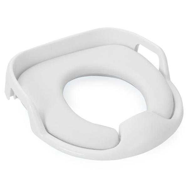 Адаптер для унитазов Roxy с ручками вверх поможет малышу привыкнуть ко взрослому туалету и обеспечит крохе необходимый комфорт.    Особенности:  Удобная анатомическая форма, мягкость сидения и наличие ручек, за которые удобно держаться - все это делает адаптер незаменимым помощником для малыша, только-только привыкающего к взрослому туалету. Устройство легко моется и подходит для всех типов унитазов. Изготовлено из безопасного полимерного сырья. Обращаем ваше внимание, что оставлять ребенка на унитазе без присмотра не рекомендуется.