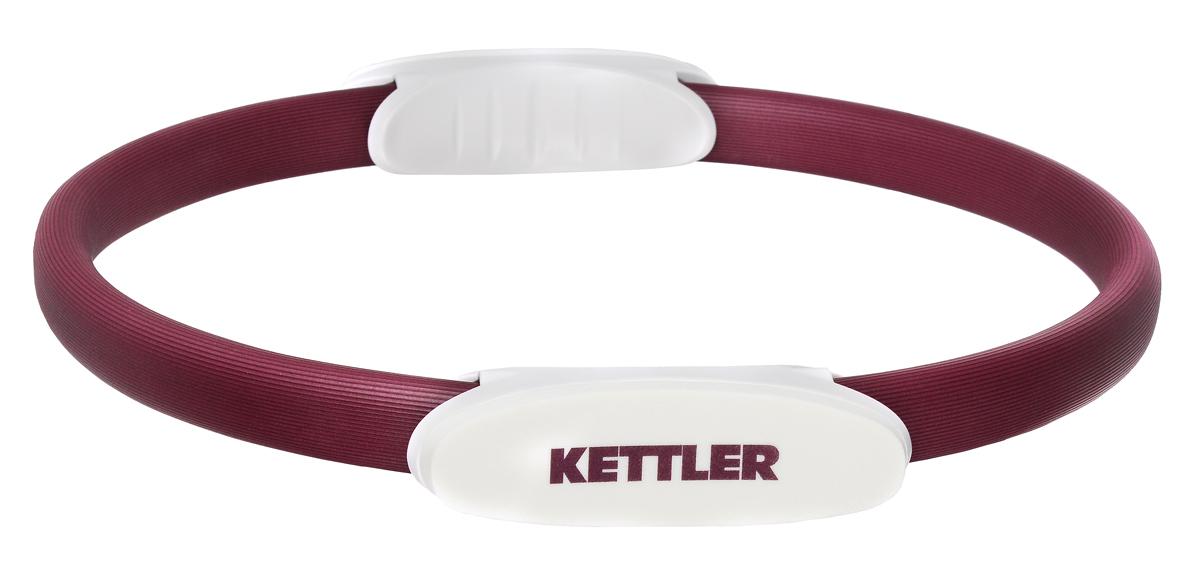 Обруч для пилатеса Kettler, цвет: бордовый, жемчужно-белый, 38 см kettler скамья для гиперэкстензии kettler axos
