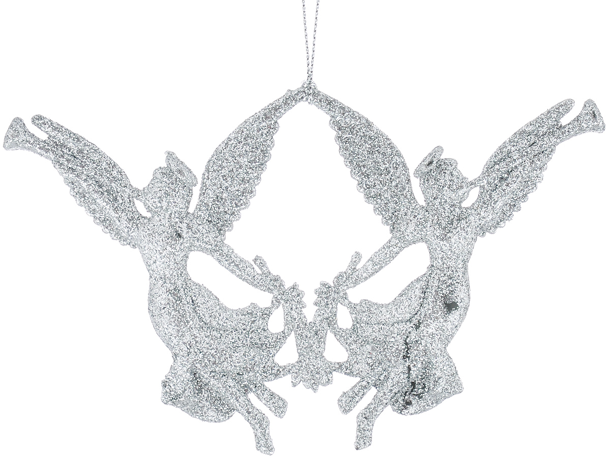 Новогоднее подвесное украшение Феникс-Презент Ангелочки, цвет: серебристый феникс презент