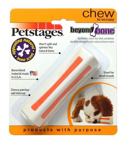 Игрушка Petstages Beyond Bone, для собак мелких пород, с ароматом косточки597STEXИгрушка Petstages Beyond Bone сочетает прочность синтетических материалов со вкусом и ароматом настоящей косточки. В отличие от натуральных костей она не разламывается и не образует острых краёв. Жевательные вставки оранжевого цвета вызывают у собаки дополнительный интерес, это отличное решение для собак, любящих грызть. Подходит для игр в апорт.