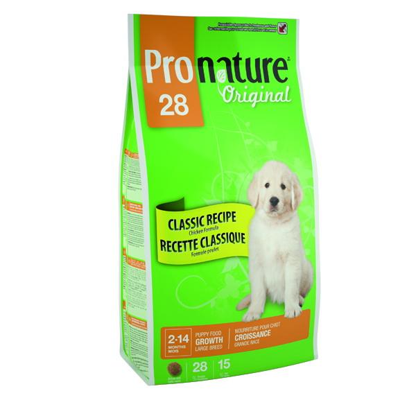 Pronature Original 28 Корм сухой для щенков крупных пород Цыпленок 15кг корм для котят pronature 30 цыпленок сух 350г