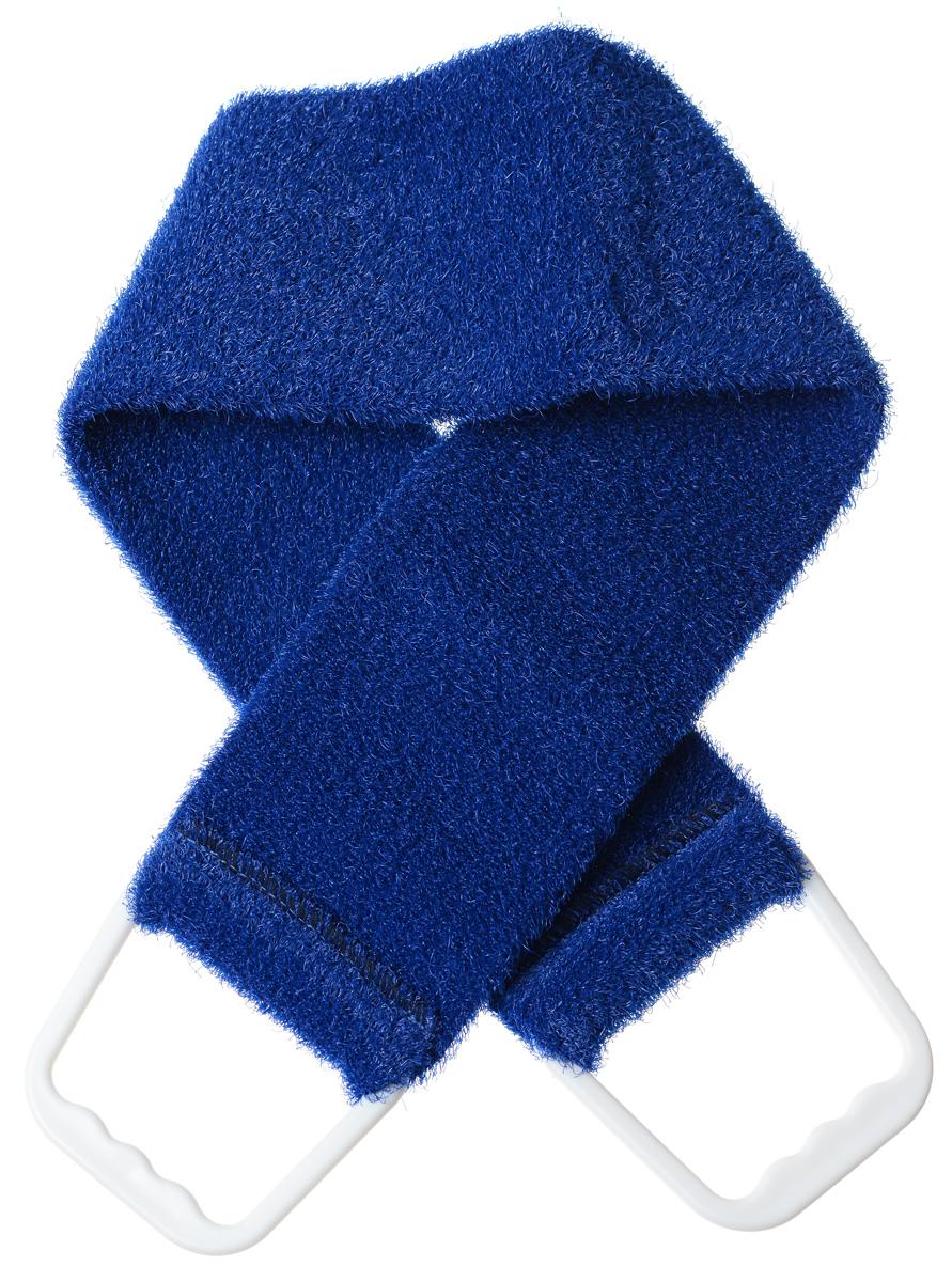 Riffi Мочалка-пояс, массажная, жесткая, цвет: темно-синий720_темно-синийМочалка-пояс Riffi используется для мытья тела, обладает активным пилинговым действием, тонизируя, массируя и эффективно очищая вашу кожу.Примесь жестких синтетических волокон усиливает массажное воздействие на кожу. Для удобства применения пояс снабжен двумя пластиковыми ручками. Благодаря отшелушивающему эффекту мочалки-пояса, кожа освобождается от отмерших клеток, становится гладкой, упругой и свежей.Массаж тела с применением Riffi стимулирует кровообращение, активирует кровоснабжение, способствует обмену веществ, что в свою очередь позволяет себя чувствовать бодрым и отдохнувшим после принятия душа или ванны. Riffi регенерирует кожу, делает ее приятно нежной, мягкой и лучше готовой к принятию косметических средств. Приносит приятное расслабление всему организму. Борется со спазмами и болями в мышцах, предупреждает образование целлюлита и обеспечивает омолаживающий эффект. Моет легко и энергично. Быстро сохнет. Гипоаллергенная. Способ применения: начинайте массаж от ног круговыми движениями по направлению к сердцу, а затем выше. Товар сертифицирован.