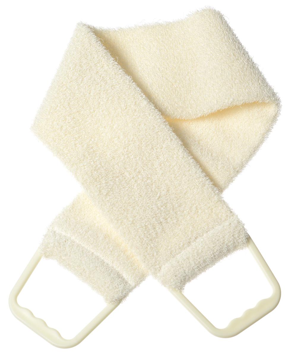 Riffi Мочалка-пояс, массажная, жесткая, цвет: молочный720_молочныйМочалка-пояс Riffi используется для мытья тела, обладает активным пилинговым действием, тонизируя, массируя и эффективно очищая вашу кожу.Примесь жестких синтетических волокон усиливает массажное воздействие на кожу. Для удобства применения пояс снабжен двумя пластиковыми ручками. Благодаря отшелушивающему эффекту мочалки-пояса, кожа освобождается от отмерших клеток, становится гладкой, упругой и свежей.Массаж тела с применением Riffi стимулирует кровообращение, активирует кровоснабжение, способствует обмену веществ, что в свою очередь позволяет себя чувствовать бодрым и отдохнувшим после принятия душа или ванны. Riffi регенерирует кожу, делает ее приятно нежной, мягкой и лучше готовой к принятию косметических средств. Приносит приятное расслабление всему организму. Борется со спазмами и болями в мышцах, предупреждает образование целлюлита и обеспечивает омолаживающий эффект. Моет легко и энергично. Быстро сохнет. Гипоаллергенная. Способ применения: начинайте массаж от ног круговыми движениями по направлению к сердцу, а затем выше. Товар сертифицирован.