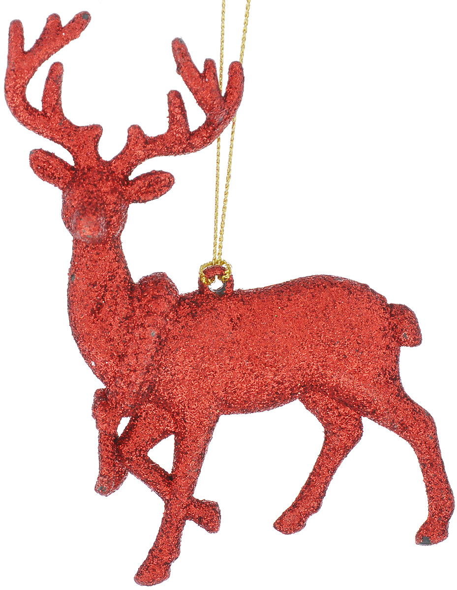 Новогоднее подвесное украшение Феникс-Презент Олень, цвет: красный38745/75119Новогоднее украшение Феникс-Презент Олень, изготовленное из пластика, прекрасно подойдет для декорации вашего дома и новогодней ели. Украшение выполнено в виде оленя и украшено блестками. Изделие оснащено текстильной петелькой, с помощью которой его можно повесить в любом понравившемся вам месте. Елочная игрушка - символ Нового года. Она несет в себе волшебство и красоту праздника. Создайте в своем доме атмосферу веселья и радости, украшая всей семьей новогоднюю елку нарядными игрушками, которые будут из года в год накапливать теплоту воспоминаний.