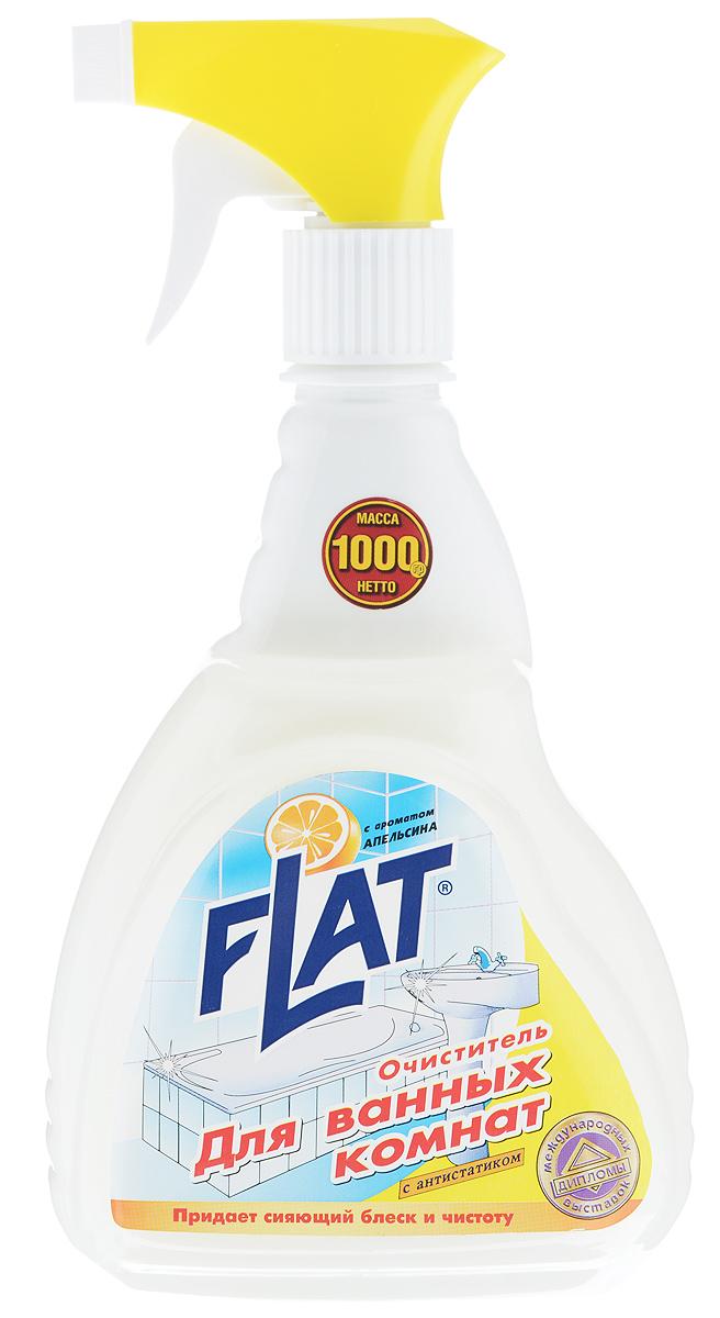 Очиститель для ванных комнат Flat, с ароматом апельсина, 1000 г очиститель flat для кухонной бытовой техники с ароматом апельсина 480 г