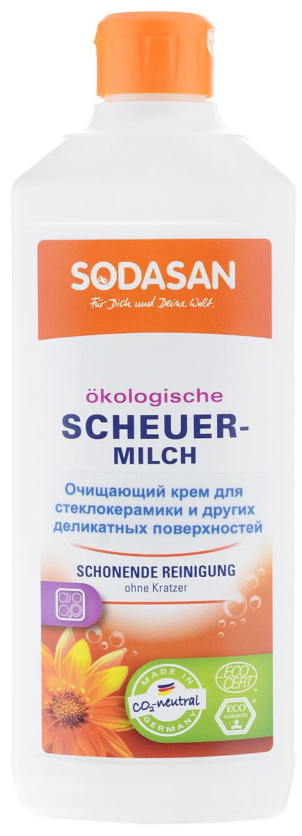 Чистящий крем для стеклокерамики Sodasan, 500 мл мыло для очищения любых поверхностей zero оливковое натуральное 500 мл