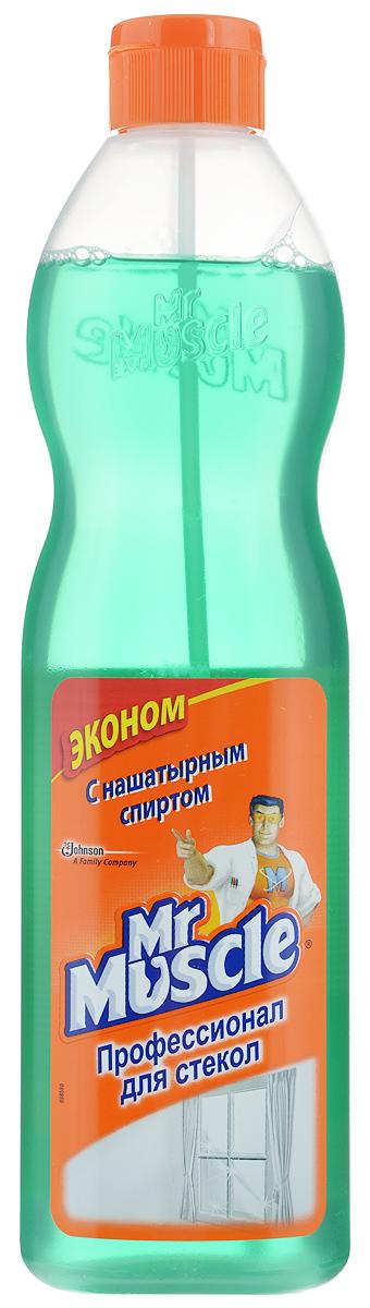 """Чистящее средство для стекол Mr. Muscle """"Профессионал"""", с нашатырным спиртом, 500 мл"""