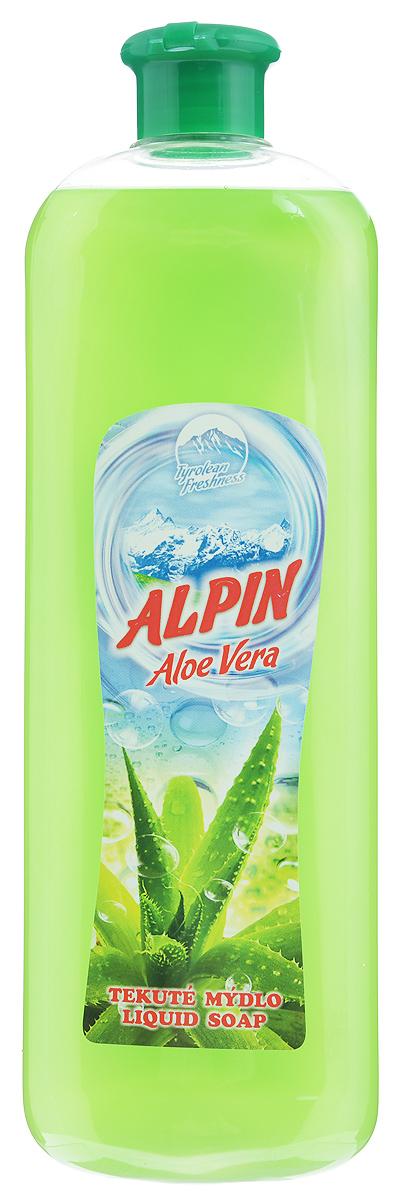 Жидкое мыло Alpin Aloe Vera, 1 лАB1000PAVAЖидкое мыло Alpin Aloe Vera подходит для бережного очищения кожи от любых загрязнений, обладает приятным ароматом. Создает обильную мыльную пену и придает коже ощущение чистоты, гладкости и шелковистости. Это мыло хорошо растворяется, имеет сбалансированный уровень рН, не вызывает раздражения и подходит для ежедневного очищения даже самой чувствительной кожи лица, рук и тела.Товар сертифицирован.Как выбрать качественную бытовую химию, безопасную для природы и людей. Статья OZON Гид