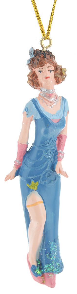 Новогоднее подвесное украшение Феникс-презент Девушка в синем платье38306Новогоднее украшение Феникс-презент Девушка в синем платье, изготовленное из высококачественного полирезина, прекрасно подойдет для праздничного декора дома и новогодней ели. С помощью специальной текстильной петельки его можно повесить в любом понравившемся вам месте. Елочная игрушка - символ Нового года. Она несет в себе волшебство и красоту праздника. Создайте в своем доме атмосферу веселья и радости, украшая новогоднюю елку нарядными игрушками, которые будут из года в год накапливать теплоту воспоминаний.