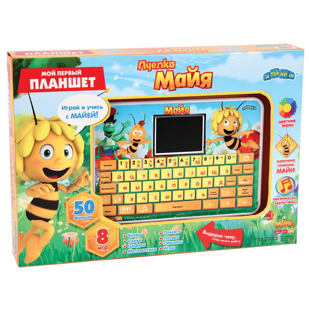 Пчелка Майя Электронная игрушка Компьютер планшет с цветным экраном 53 функции 8 игр найди пару уровень 1