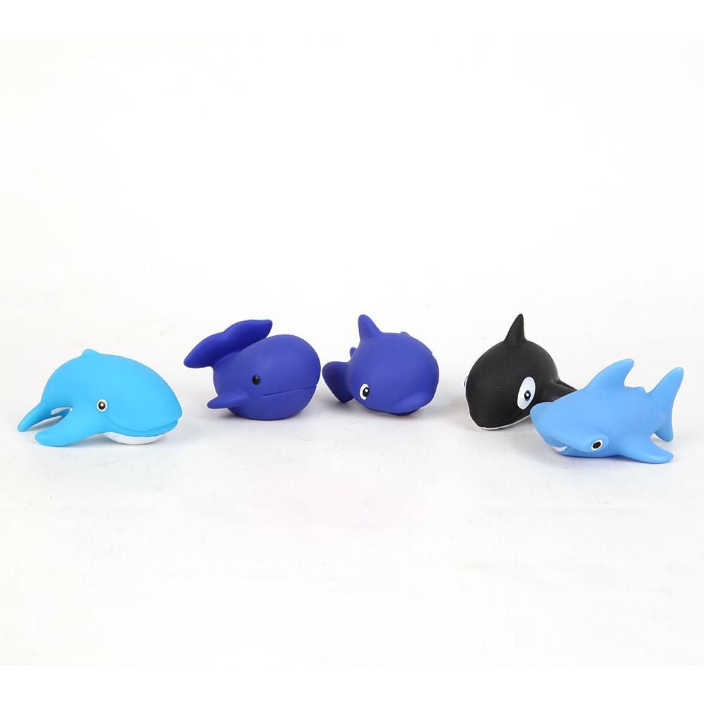 Пластизоль Игрушка для ванной Морские гиганты, 5 шт
