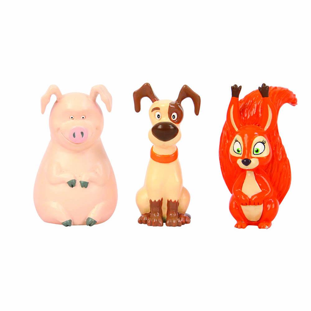 Маша и Медведь Пластизоль Белочка, собачка и хрюшка фигурки игрушки маша и медведь кукла маша