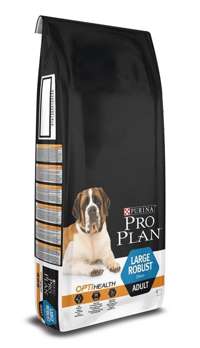 Корм сухой Pro Plan Adult Large Robust, для собак крупных пород с мощным телосложением, с курицей, 14 кг корм сухой pro plan adult large robust для собак крупных пород с мощным телосложением с курицей 14 кг