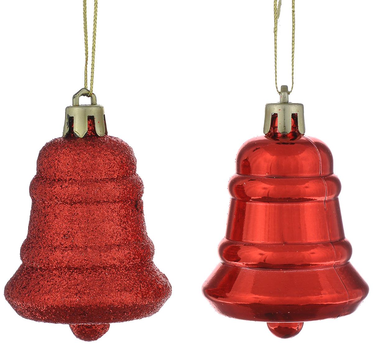 Новогоднее подвесное украшение Феникс-презент Колокол, цвет: красный, 4,8 х 4,8 х 8 см, 2 шт39020Подвесное украшение Феникс-презент Колокол прекрасно подойдет для праздничного декора вашей ели. Оригинальное новогоднее украшение выполнено из пластика в виде снежинки. С помощью специальной текстильной петельки его можно повесить в любом понравившемся вам месте. Но удачнее всего такая игрушка будет смотреться на праздничной елке. Елочная игрушка - символ Нового года и Рождества. Она несет в себе волшебство и красоту праздника. Создайте в своем доме атмосферу веселья и радости, украшая новогоднюю елку нарядными игрушками, которые будут из года в год накапливать теплоту воспоминаний.