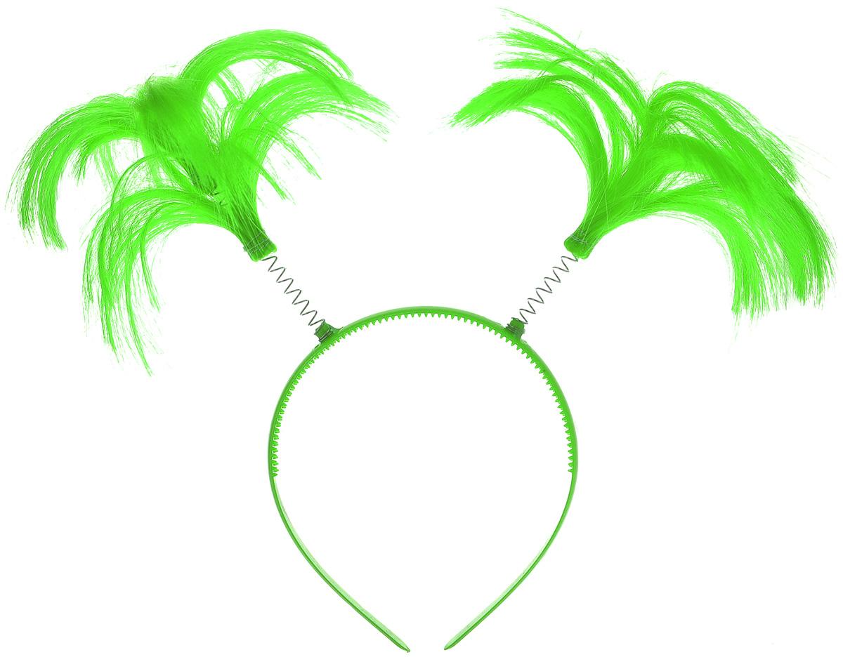 """Ободок маскарадный Феникс-Презент """"Пеппи"""", цвет: зеленый"""
