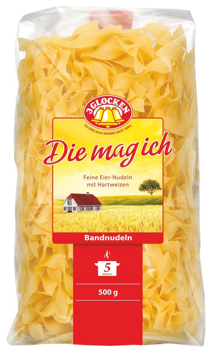 3 Glocken Bаndnudeln короткая прямая лапша, 500 г pasta zara клубки тонкие тальолини макароны 500 г