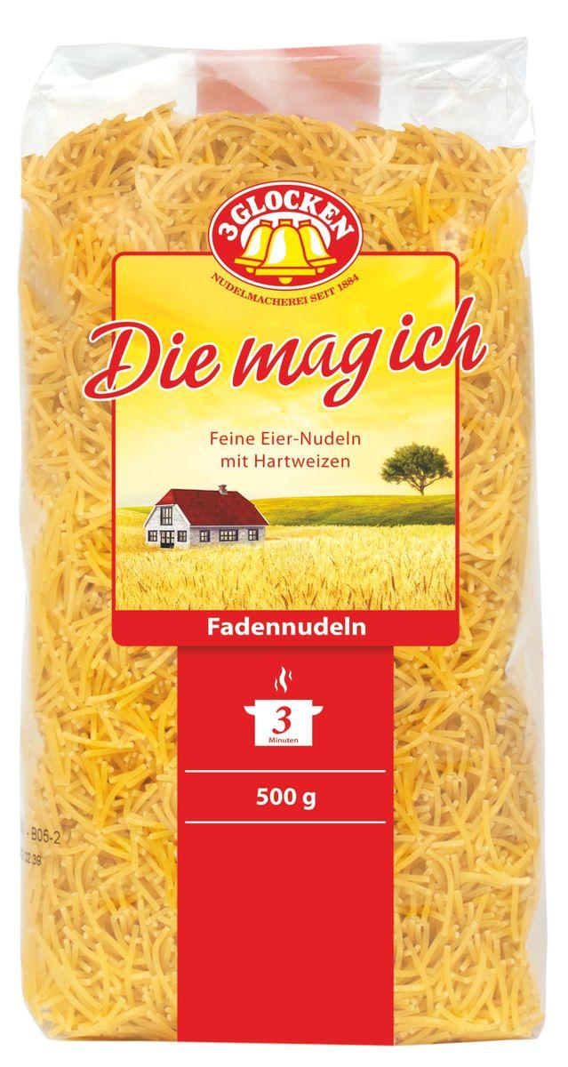 3 Glocken Fadennudeln мелкая вермишель, 500 г 3 glocken genuss pur spagetti спагетти 500 г