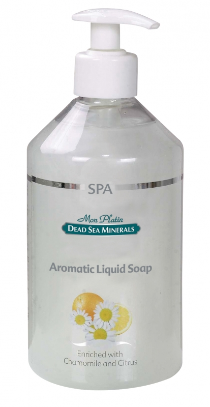 Mon Platin DSM Ароматическое чувственное мыло широкого использования 500 млDSM182Мыло на основе минеральных компонентов Мертвого моря, ароматических масел и витаминов С, А, Е, D – для получения чувственного, обволакивающего эффекта. Придает ощущение свежести и ласкающей нежности. Увлажняет кожу, придавая ей свежий, волнующий запах.