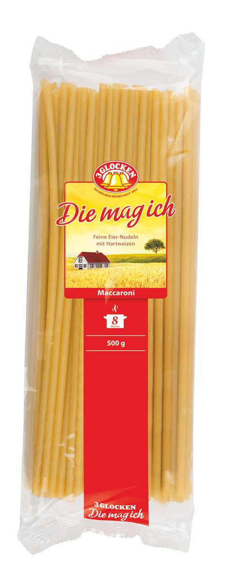 3 Glocken Makaroni макароны, 500 г 3 glocken genuss pur spagetti спагетти 500 г