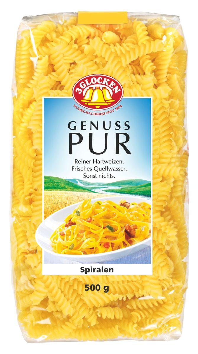 3 Glocken Genuss Pur Spiralen спирали, 500 г pasta zara клубки тонкие тальолини макароны 500 г