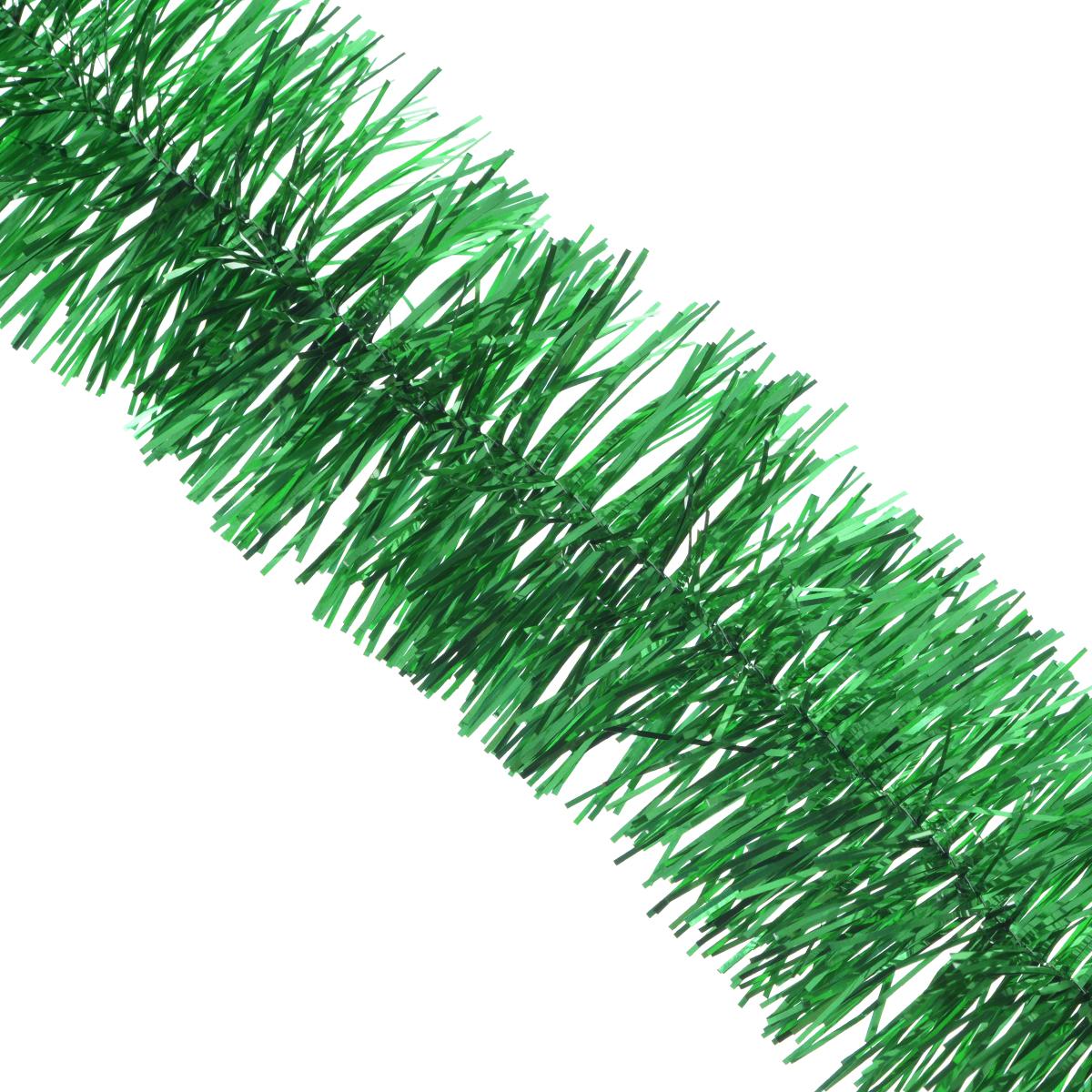 Мишура новогодняя Sima-land, цвет: зеленый, диаметр 6 см, длина 160 см. 7013061099604Новогодняя мишура Sima-land, выполненная из фольги, поможет вам украсить свой дом к предстоящим праздникам. А новогодняя елка с таким украшением станет еще наряднее. Мишура армирована, то есть имеет проволоку внутри и способна сохранять любую форму, которую вы ей придадите.Новогодней мишурой можно украсить все, что угодно - елку, квартиру, дачу, офис - как внутри, так и снаружи. Можно сложить новогодние поздравления, буквы и цифры, мишурой можно украсить и дополнить гирлянды, можно выделить дверные колонны, оплести дверные проемы.