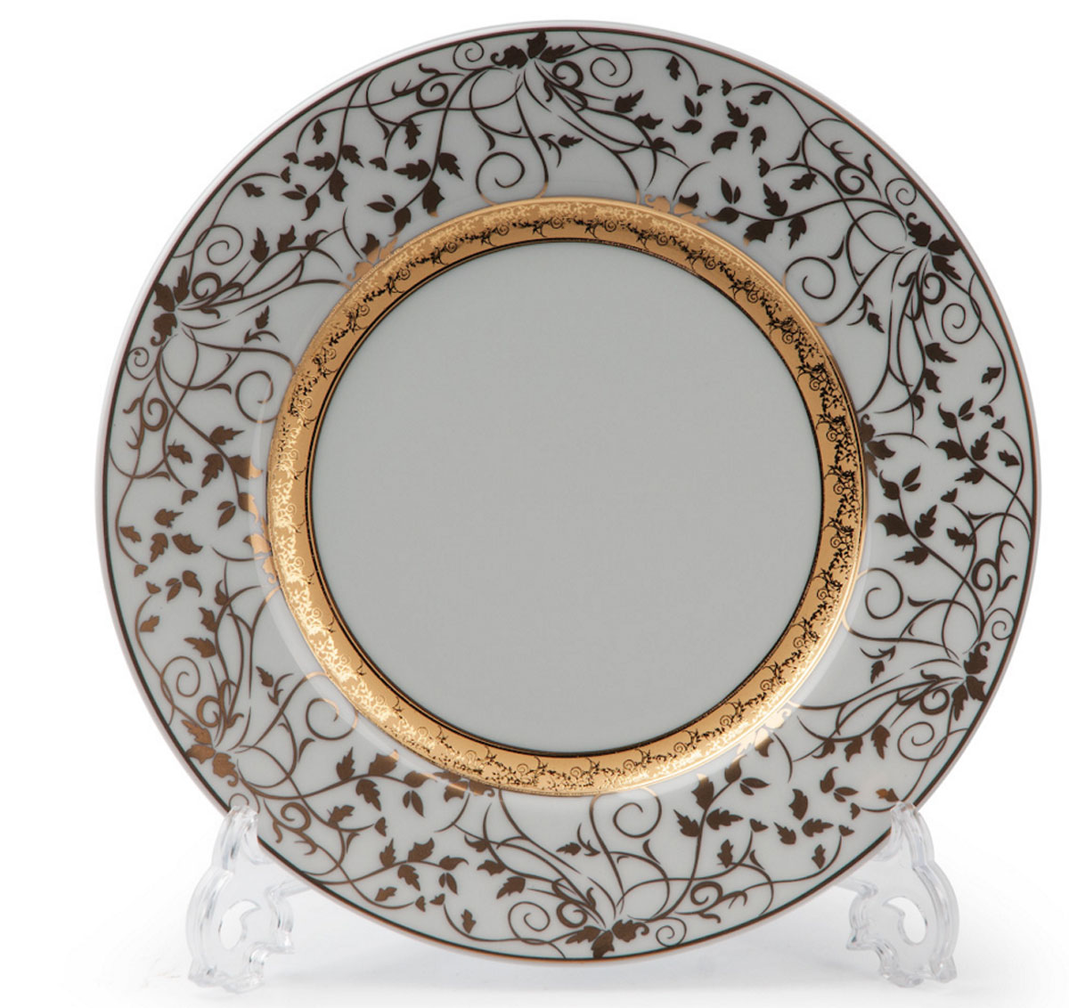 Mimosa Lierre Or 947, набор тарелок 22см (6шт), цвет: белый с золотом539117947В наборе тарелка 22 см 6 штук Материал: фарфор: цвет: белый с золотомСерия: MIMOSA