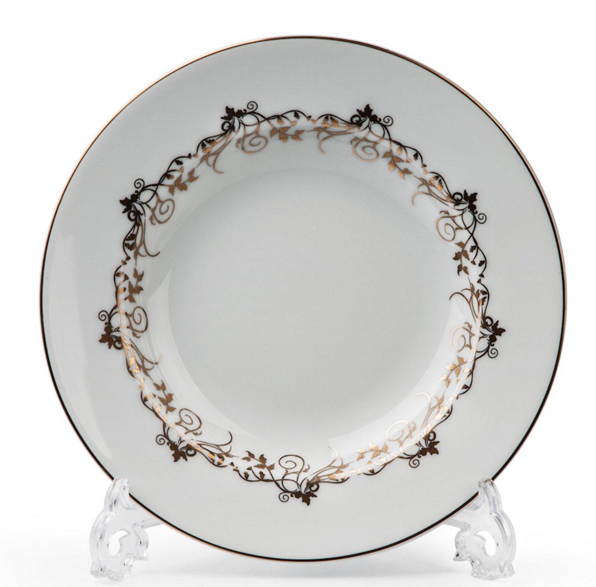 Mimosa Lierre Or 947, набор тарелок глубоких (6шт), цвет: белый с золотом539124947В наборе глубокая тарелка 6 штук Материал: фарфор: цвет: белый с золотомСерия: MIMOSA