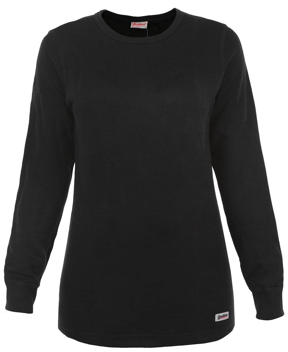 Термобелье кофта женская Guahoo Everyday, цвет: темно-серый. 21-0461 S. Размер M (46)21-0461 SДвухслойная структура полотна этой модели поможет вам чувствовать себя комфортно в холодное время года. Идеальное сочетание различных видов пряжи с добавлением натуральной шерсти во внешнем слое, а также специальное плетение обеспечивают эффективное сохранение тепла. Внутренний слой полотна - из мягкой акриловой пряжи, которая по своим теплосберегающим свойствам не уступает шерсти. Начес на внутренней стороне полотна лучше сохраняет тепло за счет дополнительной воздушной прослойки. Рукава кофты оформлены эластичными манжетами. Круглый вырез горловины. Модель декорирована логотипом бренда.Ничто не будет стеснять ваших движений.
