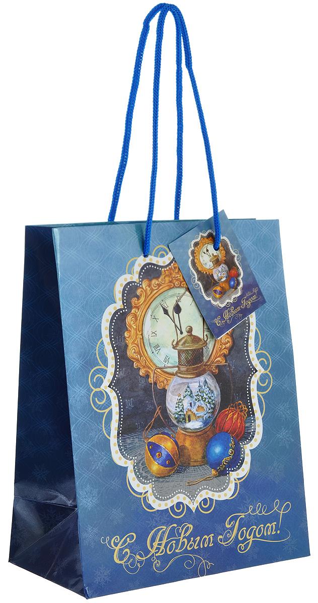 Пакет подарочный Феникс-Презент Новогодняя лампа, 17,8 х 22,9 х 9,8 см