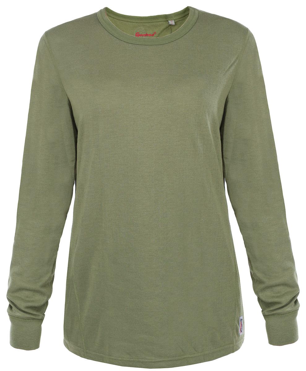 Термобелье кофта женская Guahoo Outdoor, цвет: светло-зеленый. 22-0571 S. Размер M (46)22-0571 SДвухслойная модель от Guahoo Outdoor, верхний слой состоит из вискозной пряжи и волокон кофейного угля. Полотно, содержащее в составе кофейный уголь, быстро сохнет и снижает эффект появления неприятных запахов. Полиэстер во внутреннем слое придает изделиям прочность, обладает влаговыводящими свойствами, и предотвращает деформацию при носке и многочисленных стирках. Рукава кофты оформлены эластичными манжетами. Круглый вырез горловины. Модель декорирована логотипом бренда.Ничто не будет стеснять ваших движений.