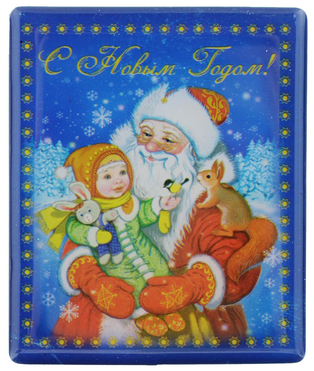 Магнит Феникс-презент Дед Мороз с ребенком, 6 см х 5 см подсвечник декоративный феникс презент цвет голубой 8 5 х 8 5 х 7 5 см