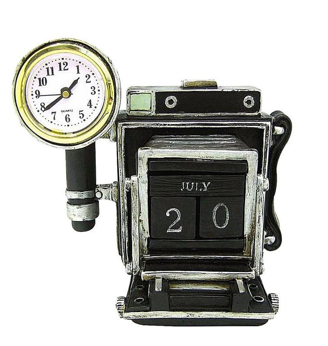Календарь настольный Miolla Ретро фотокамера, с часамиC2514119SНастольный календарь с часами Ретро фотокамера, выполнен из полирезины. Размер изделия: 13 х 13 х 10 см.
