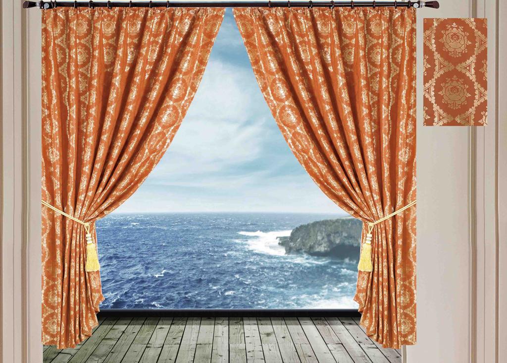Комплект штор SL, на ленте, цвет: коричневый, высота 270 см. 1024510245Роскошный комплект штор SL изготовлен из мягкого бархатистого полиэстера с жаккардовым рисунком. Комплект состоит из двух плотных полотен, благодаря чему они надежно защищают комнату от солнечного света днем и от уличного освещения вечером. По верхнему краю прошита плотная широкая шторная лента для крючков. Рекомендации по уходу: - Ручная или машинная стирка при температуре не выше 40°С. - Разрешено гладить при максимальной температуре 110°С. - При стирке не использовать средства содержащие отбеливатели. - Химическая чистка запрещена.