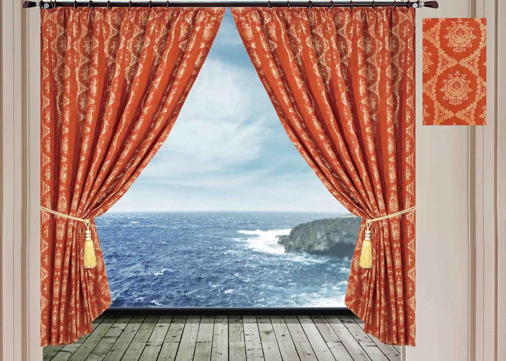 Комплект штор SL, на ленте, цвет: коричнево-красный, высота 270 см. 1024810248Роскошный комплект штор SL изготовлен из мягкого бархатистого полиэстера с жаккардовым рисунком. Комплект состоит из двух плотных полотен, благодаря чему они надежно защищают комнату от солнечного света днем и от уличного освещения вечером. По верхнему краю прошита плотная широкая шторная лента, для крючков. Рекомендации по уходу: - Ручная или машинная стирка при температуре не выше 40°С. - Разрешено гладить при максимальной температуре 110°С. - При стирке не использовать средства содержащие отбеливатели. - Химическая чистка запрещена.
