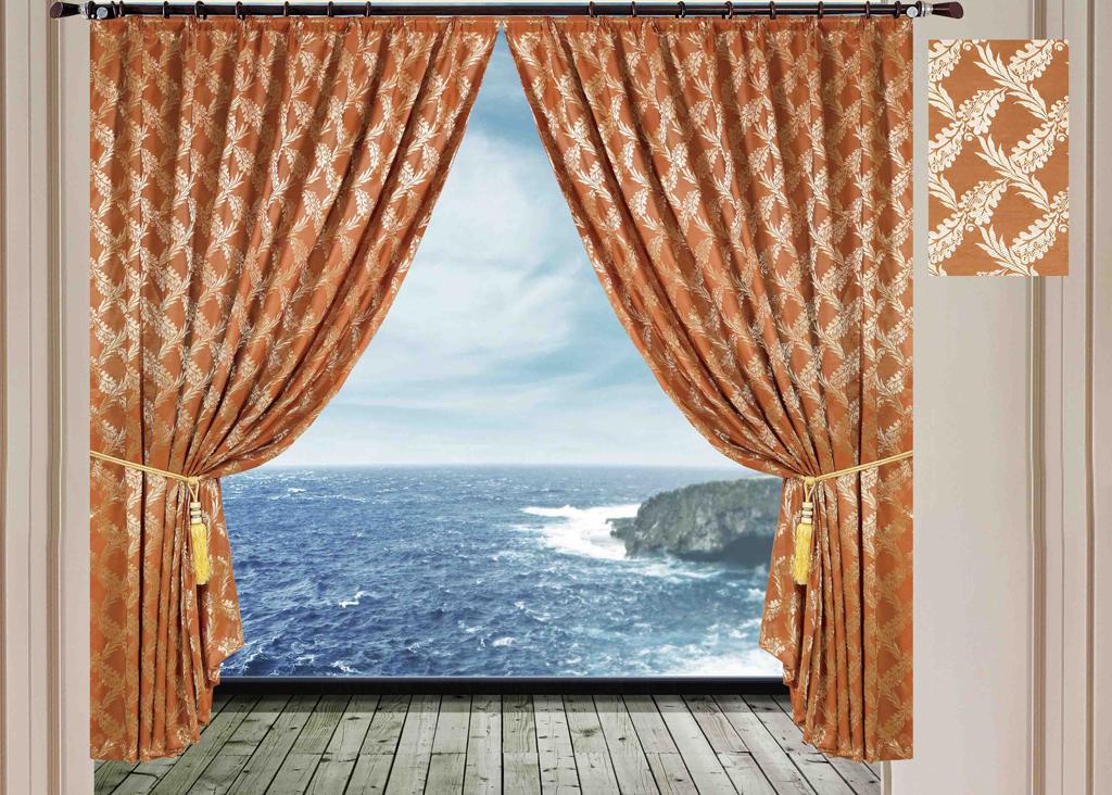 Комплект штор SL, на ленте, цвет: коричневый, высота 270 см. 1026310263Роскошный комплект штор SL изготовлен из мягкого бархатистого полиэстера с жаккардовым рисунком. Комплект состоит из двух плотных полотен, благодаря чему они надежно защищают комнату от солнечного света днем и от уличного освещения вечером. По верхнему краю прошита плотная широкая шторная лента для крючков. Рекомендации по уходу: - Ручная или машинная стирка при температуре не выше 40°С. - Разрешено гладить при максимальной температуре 110°С. - При стирке не использовать средства содержащие отбеливатели. - Химическая чистка запрещена.