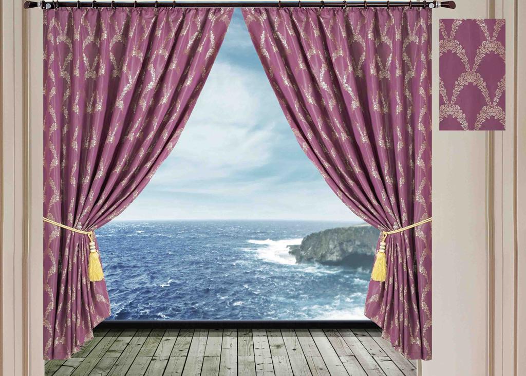 Комплект штор SL, на ленте, цвет: сиреневый, высота 270 см. 1028710287Роскошный комплект штор SL изготовлен из мягкого бархатистого полиэстера с жаккардовым рисунком. Комплект состоит из двух плотных полотен, благодаря чему они надежно защищают комнату от солнечного света днем и от уличного освещения вечером. По верхнему краю прошита плотная широкая шторная лента для крючков. Рекомендации по уходу: - Ручная или машинная стирка при температуре не выше 40°С. - Разрешено гладить при максимальной температуре 110°С. - При стирке не использовать средства содержащие отбеливатели. - Химическая чистка запрещена.