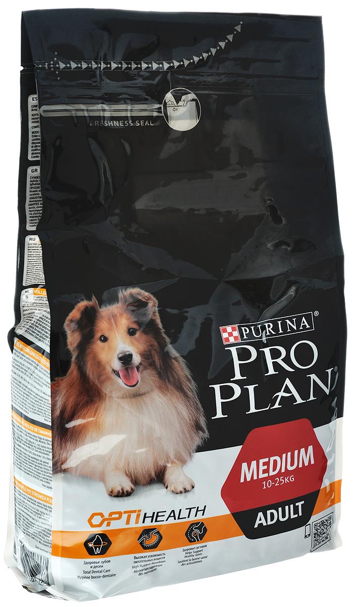 Корм сухой Pro Plan Adult Original для взрослых собак средних пород, с курицей и рисом, 3 кг корм сухой pro plan optihealth для собак мелких и карликовых пород с курицей и рисом 7 кг