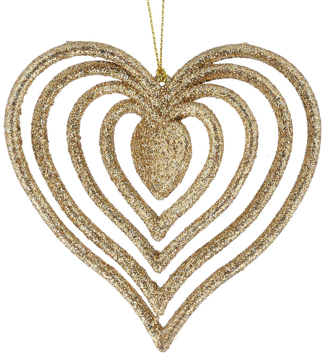 Новогоднее подвесное украшение Феникс-Презент Сердце38742Новогоднее украшение Феникс-Презент Сердце изготовлено извысококачественного пластика и декорировано блестками. Изделие прекрасноподойдет для праздничного декора дома и новогодней ели. С помощью специальной текстильной петельки его можно повесить в любом понравившемся вам месте. Елочная игрушка - символ Нового года. Она несет в себе волшебство и красотупраздника.Создайте в своем доме атмосферу веселья и радости, украшаяновогоднюю елку нарядными игрушками, которые будут из года в год накапливатьтеплоту воспоминаний.