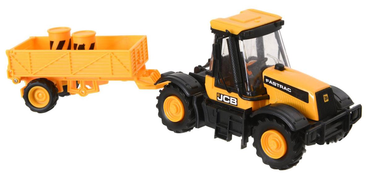 JCB Cтроительная техника Трактор с прицепом масштаб 1:32 hti трактор с прицепом jcb