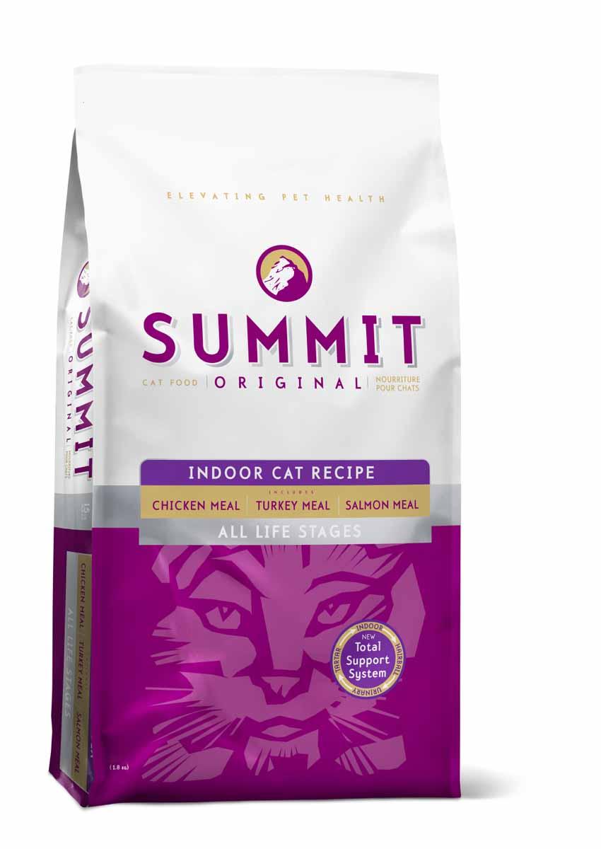 Корм сухой Summit holistic Indoor Cat Recipe, для домашних кошек, цыпленок, лосось и индейка, 1,8 кг20366Summit Holistic - корм супер-премиум из Канады Все стадии жизни.Оригинальный рецепт для котят и кошек был создан с исключительным подбором ингредиентов премиум-класса, для восхитительного вкуса и исключительных преимущества для здоровья, в том числе помощь в предотвращении вывода шерсти. При изготовлении Summit Holistic используется уникальное сочетание высококачественных ингредиентов, которые обеспечивают исключительно натуральный вкус и максимальную питательную ценность. Summit Holistic содержит только качественные ингредиенты от давно зарекомендовавших себя фермерских хозяйств. Не содержит субпродуктов, искусственных красителей, сои, кукурузы, мясных ингредиентов, выращенных на гормонах.Состав: дегидрированное мясо цыпленка, цельный коричневый рис, овсянка, картофель, горох, куриный жир (консервированный токоферолами), натуральный куриный ароматизатор, дегидрированное мясо лосося, дегидрированное мясо индейки, рыбий жир, хлорид калия, сульфат кальция, фосфорная кислота, хлорид натрия, хлорид холина, витамины (витамин А, витамин D3 добавки, витамин Е, ниацин, инозит, L-аскорбил-2-полифосфат (источник витамина С), тиамин мононитрат, пантотенат d-кальция, рибофлавин, пиридоксин гидрохлорид, бета-каротин, фолиевая кислота, биотин, витамин В12), минералы (протеинат цинка, железа протеинат, меди протеинат, оксид цинка, протеинат марганца, сульфат меди, йодат кальция, сульфат железа, оксид марганца, селенит натрия), таурин, DL-метионин, сушат корень цикория, экстракт дрожжей, экстракт юкки Шидигера, L-карнитин, розмарин.Пищевая ценность: белки 34%, жиры 11%, клетчатка 5%, влага 10%, зола 6%, магний 0,09%, таурин 0,15%, Omega-6 1,5%, Omega-3 0,25%.Калорийность: 3999 ккал/кг. Вес: 1,8 кг.