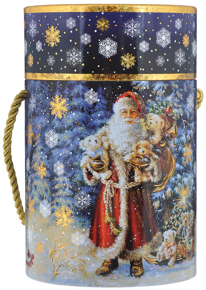 Туба подарочная Правила Успеха Волшебный лес, диаметр 11 см4610009210551Подарочная туба Правила Успеха Волшебный лес выполнена из плотного картона. Изделие оформлено ярким изображением Деда Мороза с подарками. Туба оснащена крышкой, декорированной голограммой, и текстильной ручкой.Подарочная туба - это оригинальное решение, если вы хотите порадовать ваших близких и создать праздничное настроение, ведь подарок, преподнесенный в необычной упаковке, всегда будет самым эффектным и запоминающимся. Окружите близких людей вниманием и заботой, вручив презент в нарядном, праздничном оформлении.Высота тубы: 17 см.